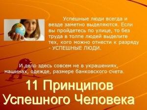 11 принципов успешного человека